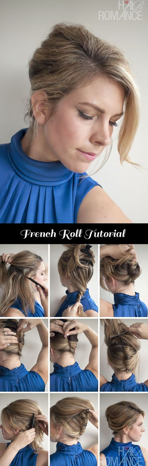 Vintage style – Classic French Roll Hairstyle Tutorial