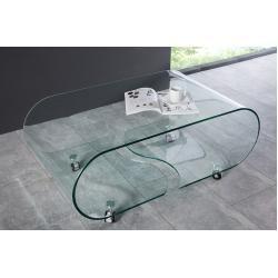 Extravaganter Glas Couchtisch Fantome 90cm Transparent Riess Ambiente In 2020 Couchtisch Rund Couchtische Und Couchtisch Eiche