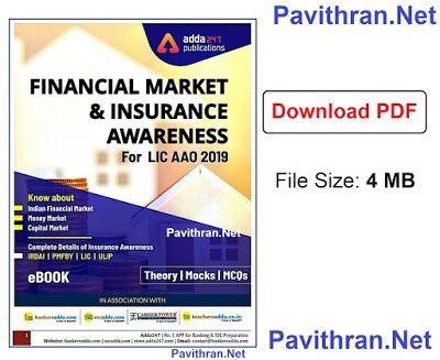 Financial Market Insurance Awareness For Lic Aao 2019 E Book Pdf