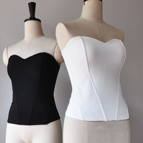 Cheap tube top, Buy Quality strapless top tube directly from China top tube Suppliers: Women Basic Sweetheart neck Boned Corset Fashion Shapewear Zip back Tube Tops Slim fit Strapless Top