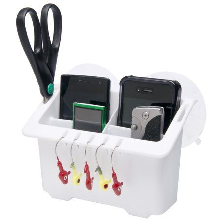 White Boat Marine Drink Cup Holder Gear Caddy Phone Storage Bait Organizer USA