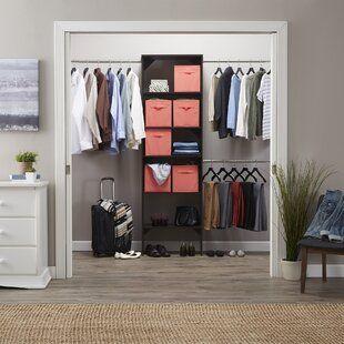 Wfx Utility Humberto 100 W Closet System Wayfair Closet System Closet Designs Closet Organizing Systems