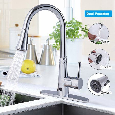 Home Improvement Touchless Kitchen Faucet Kitchen Faucets Pull