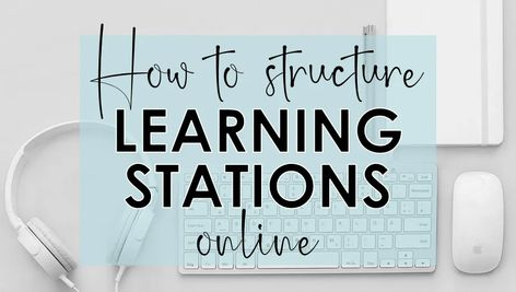 How to Structure Learning Stations Online - Write on With Miss G Virtual High School, Online High School, High School Science, Teaching Social Studies, Teaching History, Teaching Tips, Problem Based Learning, Online Classroom, Classroom Tools