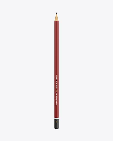 Round Pencil Mockup Top View In Stationery Mockups On Yellow Images Object Mockups Mockup Free Psd Free Logo Mockup Psd Mockup Psd