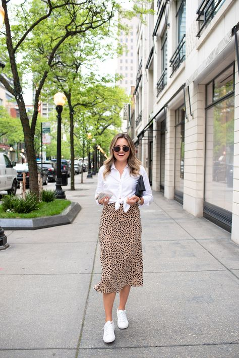 How to Style Sneakers with Skirts and Dresses — bows & sequins