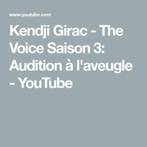 Kendji Girac The Voice Saison 3 Audition à L Aveugle