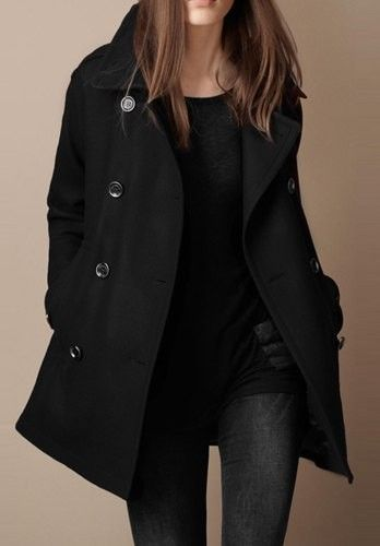 Shop Womens Double Breasted Winter Pea Coat with Pockets at victoriaswing, personal womens clothing online store! high quality, cheap and big discount, latest fashional style!