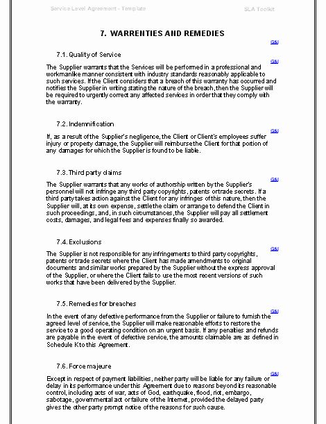 It Support Contract Template Lovely Free Printable It Service Agreement Template Form G Service Agreement Templates Contract Template Service Contract Template