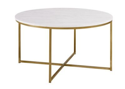 36 Coffee Table With X Base Marble Gold Macys Com Coffee