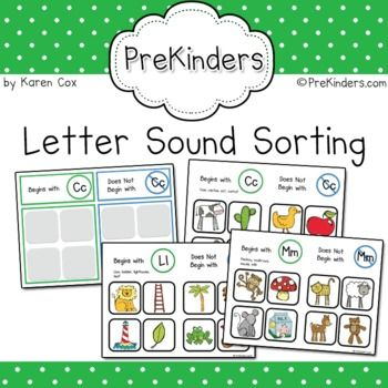 Letter Sound Sorting $3 from PreKinders