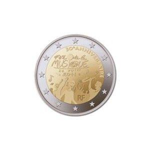 2 France 2011 Fete Musique Fete De La Musique Numismatique Monnaie Ancienne