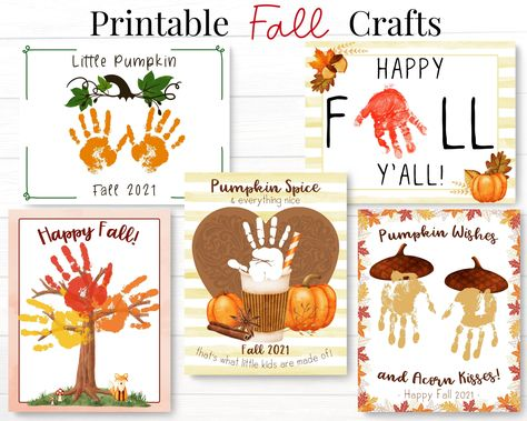 Fall Preschool Bundle, Toddler Arts and Crafts Activities, Handprint Printables for Autumn Season, Daycare Teacher and Back to School