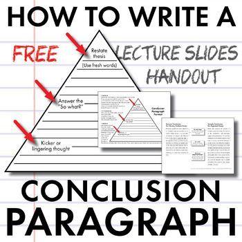 How To Write A Conclusion Paragraph Free Slides Handout Model