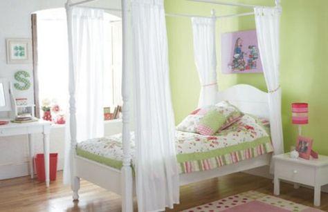 Bedroom, : Breathtaking Girls Bedroom Decoration With Green ...