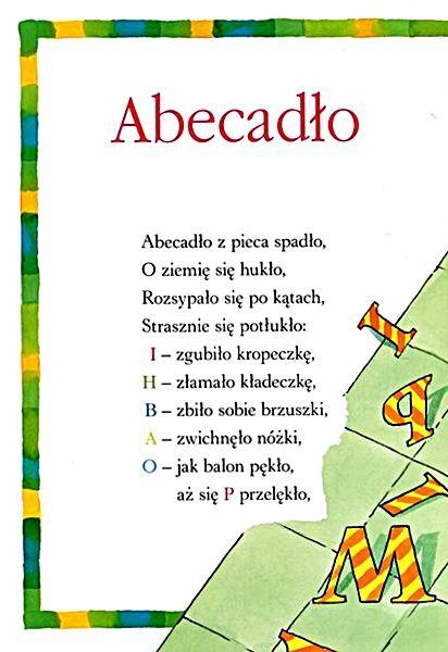 Fragment Wiersza Jtuwima Abecadło