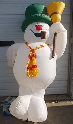INFLATABLE AIRBLOWN YARD DECORATION LIGHT UP 8 FT CHRISTMAS SNOWMAN FROSTY