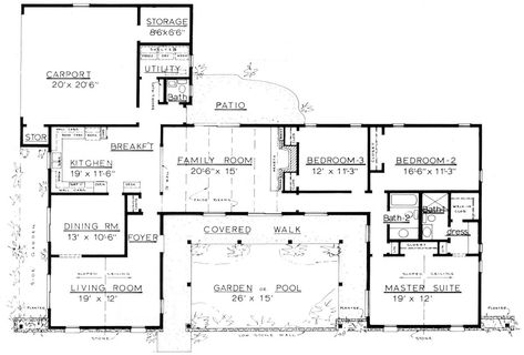 Country Home Plans By Natalie C 2200 Incredible 2100 Sq Ft Floor Courtyard House Plans Ranch House Floor Plans Ranch Style Floor Plans