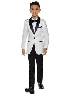 Baby Boy Kid Teen Party Event Formal Party Tuxedo Suit IVORY Shirt 12 Months-20