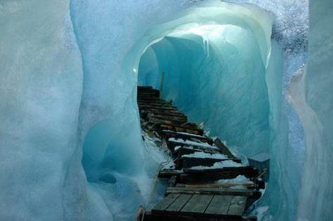 ice tunnels, Switzerland