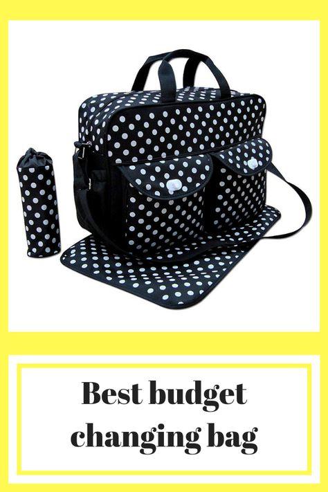 3pcs Black Colour White Polka Dots Baby Diaper Nappy Changing Bag Set E Polka Dot
