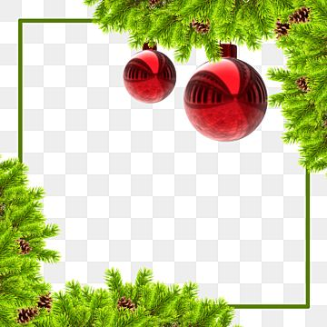 Christmas Border Frame With Red Balls And Pine Fur Christmas Gift Merry Christmas Xmas Holiday Png Transparent Clipart Image And Psd File For Free Download Merry Christmas Vector Christmas Border Red