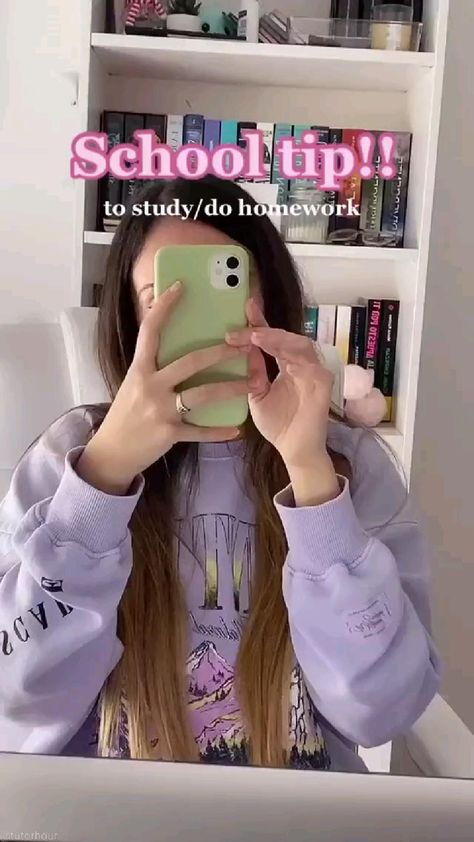 school tip to study and do homework