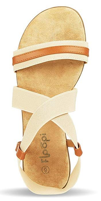 Women Flat Gladiator Sandals Criss-Cross Open Toe Wide Elastic Strap Ankle High Summer Shoes
