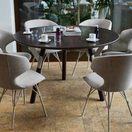 Tavoli Da Pranzo Tondi.Varaschin Link Tavolo Tondo Da Esterno Interno Design Moderno