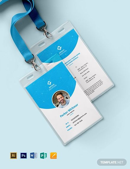 Employee Id Card Id Card Template Employee Id Card Employees Card