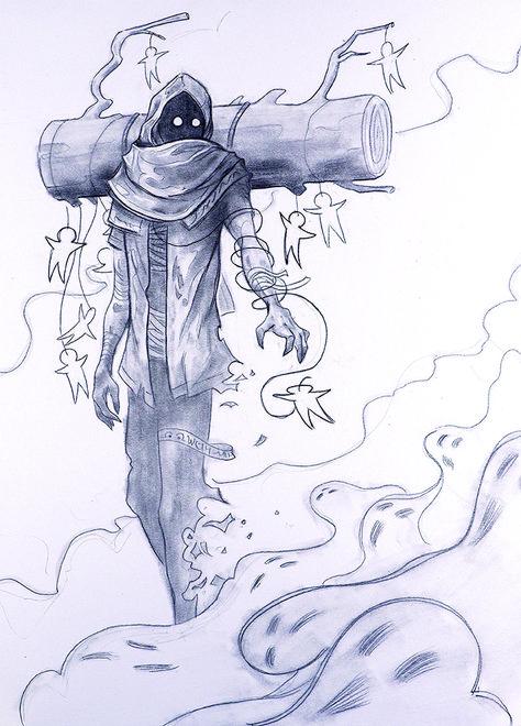 Graphite on paper - artwork by Jefferson Muncy