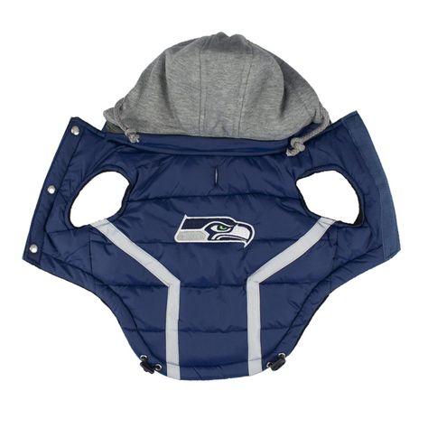 7f41e6cda Seattle Seahawks Dog Puffer Vest | Team gear | Dog coats, Puffer ...