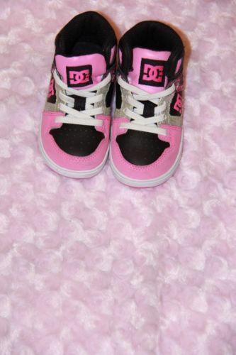 Girls Toddler Dc Shoes Tennis Shoes Black Pink Size 6 Toddler Kid Shoes Dc Shoes Black Shoes
