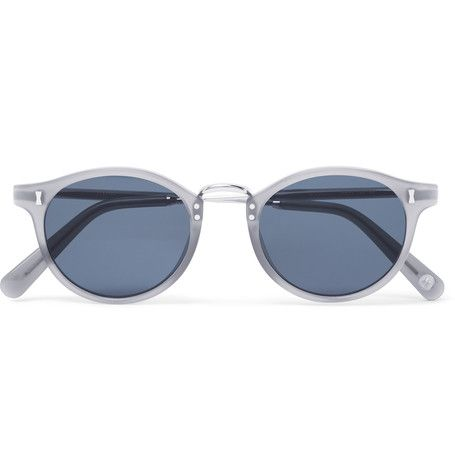 Cubitts Gifford Round-frame Acetate And Silver-tone Sunglasses - Gray HUi5h