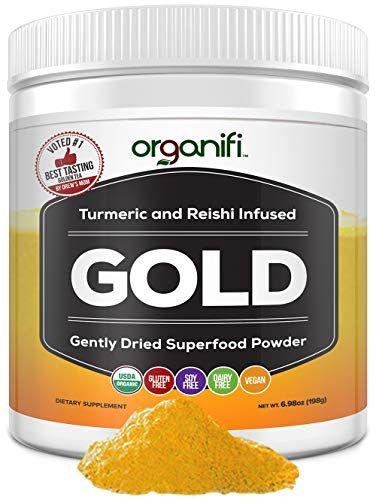 Organifi Gold Superfood Supplement Powder 30 Day Sup Https Www Amazon Com Dp B077ggzsnj Ref C Superfood Powder Superfood Supplements Turmeric Recipes