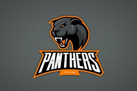 f805aca053013 Panther mascot sport logo design by provector on @creativemarket ...
