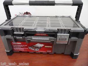 Husky 22 In Cantilever Plastic Tool Box Storage Power Tools Hand Tools Tool Box Tool Box Storage Husky Tool Box
