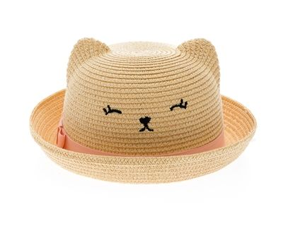 Cute Cat Ear Kids Hat Summer Straw Boy Girl Outdoor Baby Hat Cap Sun hat Bucket