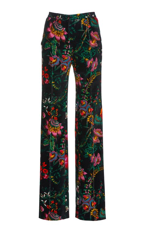 High-Waisted Printed Velvet Trousers by Paco Rabanne Estilo Zendaya, Facon, Look Cool, Fashion Outfits, Womens Fashion, Aesthetic Clothes, Women Wear, Street Style, Shorts