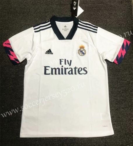 2020 2021 Real Madrid Home White Thailand Soccer Jersey Aaa 407 In 2020 Soccer Jersey Real Madrid Shirts