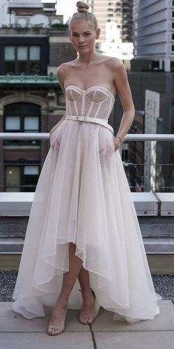 Wedding Dresses Spring 2020: Trends You Need To See ★ wedding dresses spring 2020 high low sweetheart strapless simple eisen stein