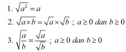 Gambar Sifat Sifat Bentuk Akar Matematika Bentuk Huruf