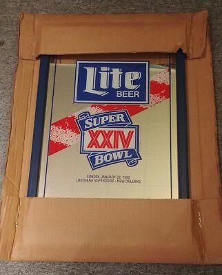 Ad Ebay Url Nos Miller Lite Beer Mirror Super Bowl Xxiv San Franscisco 49ers Denver Broncos In 2020 Lite Beer Denver Broncos Beer