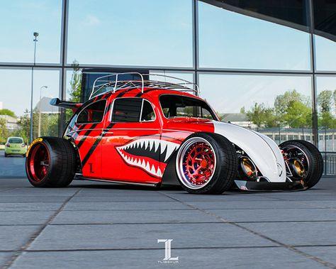 VW Beetle on Behance Fusca Volkswagen Volkswagen Fusca rebaixado Super carros
