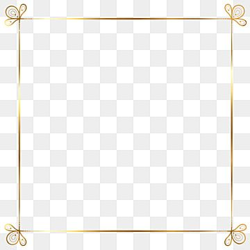 Golden Border Warm Color Picture Frame Gold Picture Frame Clipart Golden Border Border Vector Png And Vector With Transparent Background For Free Download Simple Borders Square Photos Clip Art