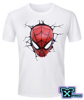 aa47d1fc Camiseta Cabeza Spiderman Para Caballero, Dama o Niños | Camisetas ...