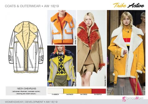 FW 208-19 Trend forecast: NEON SHEARLING, active influences, blocking colors, development designs by 5forecaStore Fashion trend forecasting.