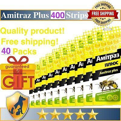 40 Strips Amitraz Plus Strips Beekeeping Prevention of Varroatosis Varroa
