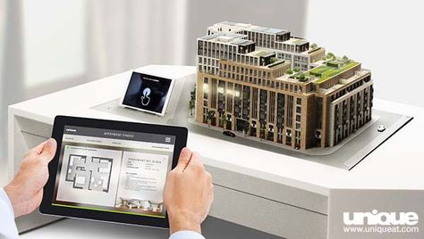 Interactive Scale model of Lincoln Square apartment building ...