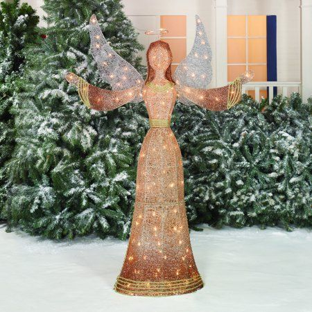 Holiday Time Christmas Decor 55 Gradient Color Angel Sculpture Indianhomedecor Outdoor Christmas Decorations Angel Decor Holiday Yard Decor